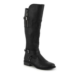 G BY GUESS HILIGHT Black tall RIDING BOOT 6